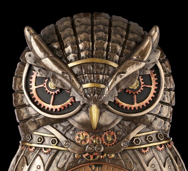 Wall Clock - Steampunk Owl