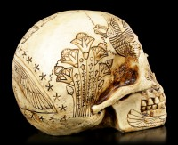 Skull with Ancient Egyptian Decorations