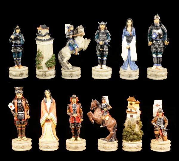 Chessmen Set - Samurai Warriors