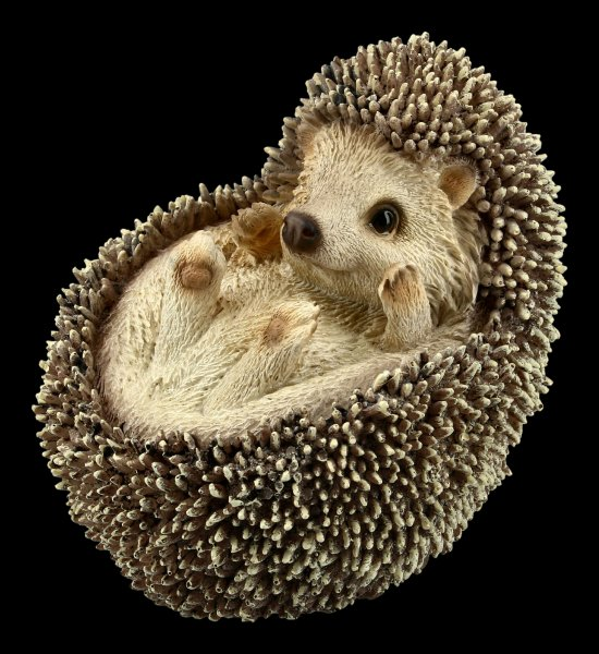 Small Hedgehog Figurine - Balled up on Back