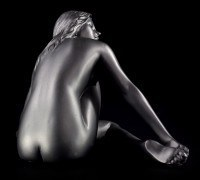 Female Nude Figurine - Betty black