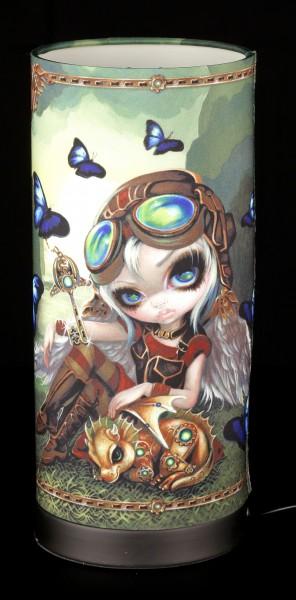 Tischlampe mit Elfe - Clockwork Dragonling