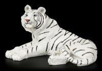 Weiße Tiger Figur - Liegend auf dem Boden