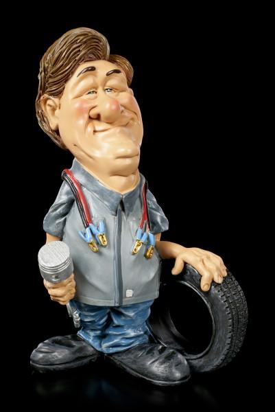 Funny Job Figur - Mechaniker mit Reifen