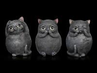 Three Fat Cats Figurines - No Evil