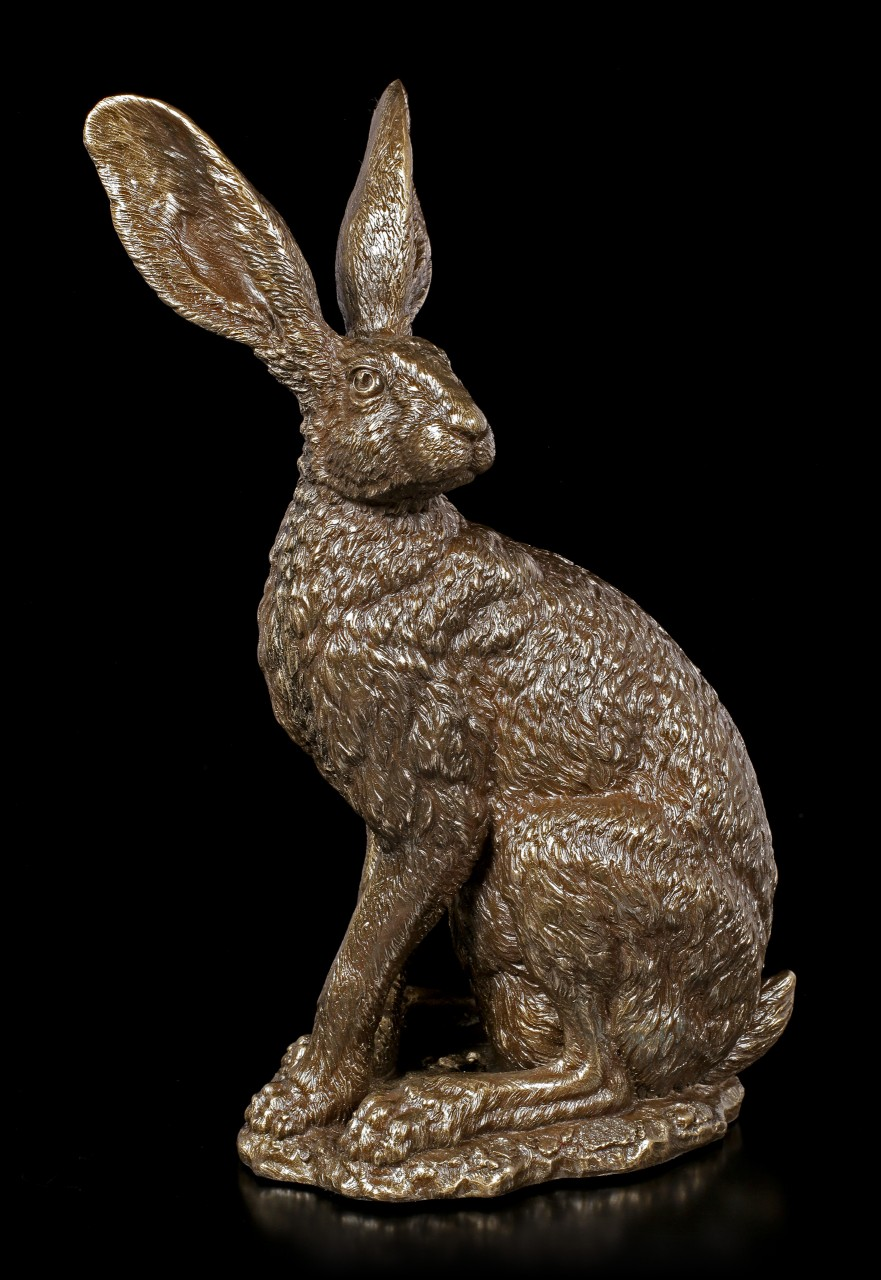 Hare Figurine - Sit Tight by Andrew Bill