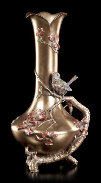 Jugendstil Blumen Vase - Vogel auf Ast