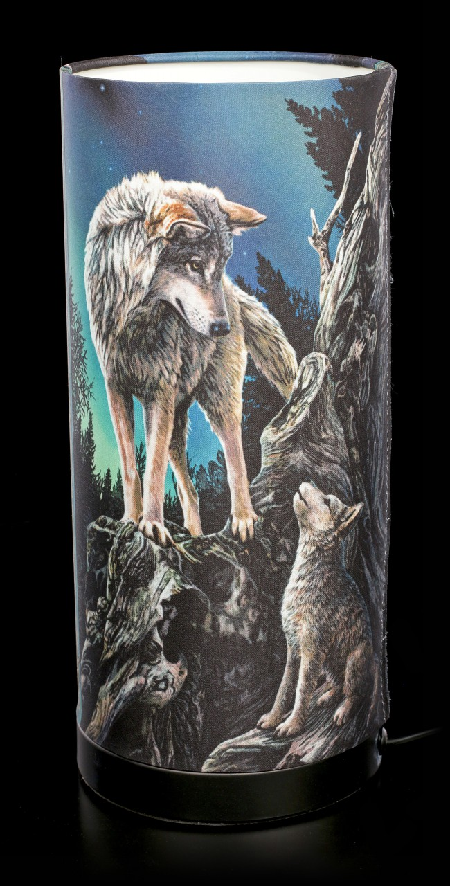 Table Lamp with Wolves - Guidance