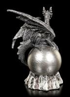 Dragon Figurine - Krey on Silver Ball