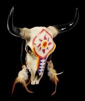 Wandrelief Stier Schädel - Indianer Look