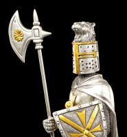 Knight Figurine - Maltese with Schield and Halberd