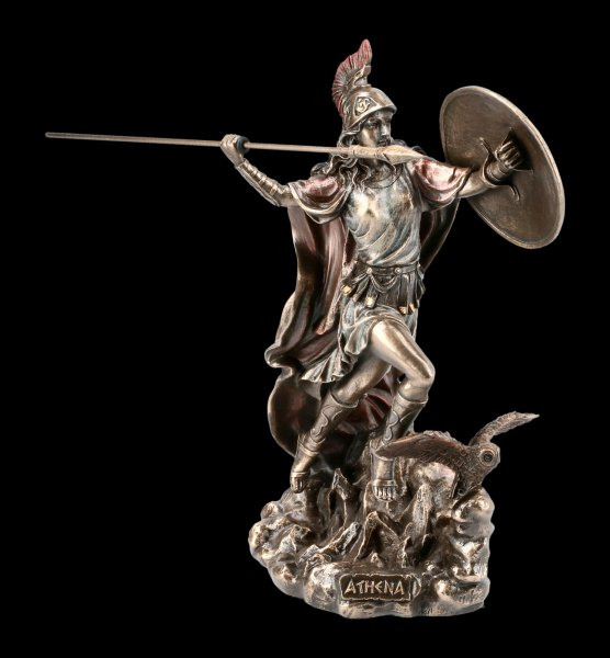 Athena Figurine - Goddess with Spear and Owl