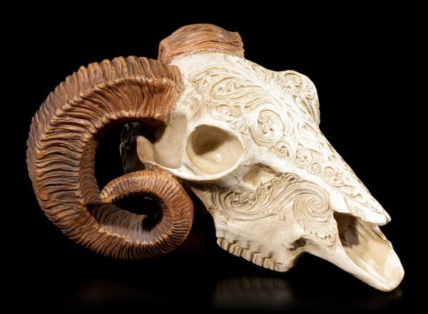 Skrimshaw Ram Skull