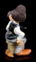 Funny Job Figurine - Shoemaker looks at his Work