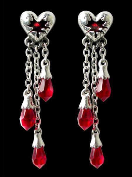 Bleeding Heart - Alchemy Gothic Ohrringe