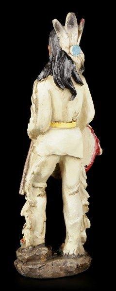 Indianer Figur - Krieger mit Tomahawk und Schild