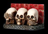 Visitenkartenhalter - Totenköpfe nichts böses