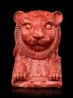 Ägyptische Figur - Roter Löwe