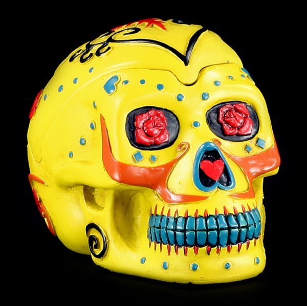 Yellow Skull Ashtray - Day Of The Dead