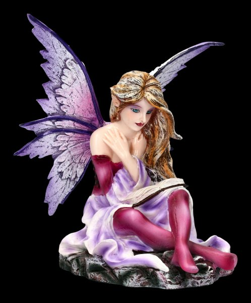Fairy Figurine - Litera is reading a Book