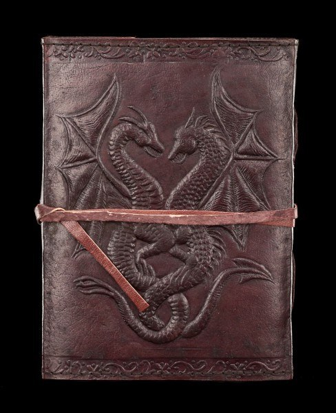 Leder Notizbuch Drachen - Double Dragon