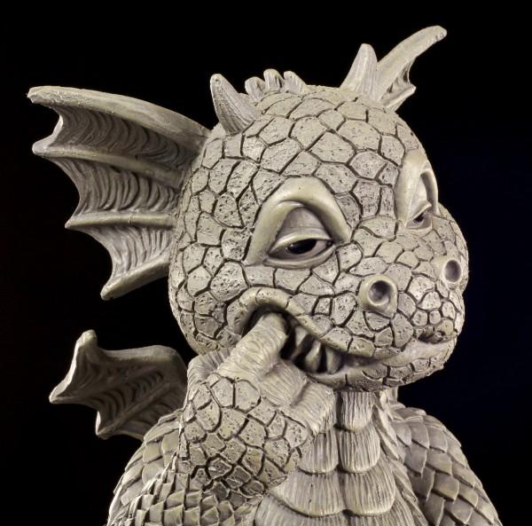 Drachen Gartenfigur - Zahnpflege