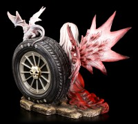 Fairy Figurine - Rimona with two Dragons