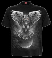 T-Shirt Gothic Eule - Wings Of Wisdom