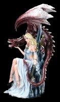 Drachen Königin Figur auf Thron