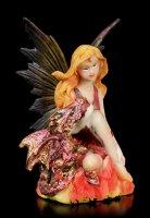 Feuer Elfen Figur - Fuoca mit kleinem Drachen