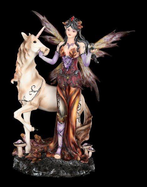 Elfen Figur mit Einhorn - Der Herbst kommt