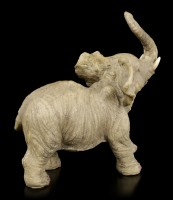 Elephant Figurine - Young standing with raised Trunk