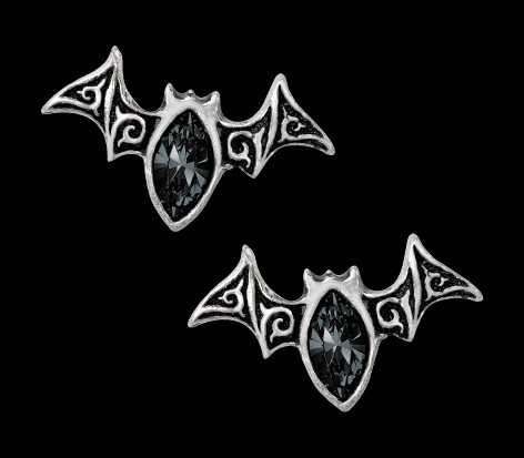 Alchemy Gothic Bat Earrings - Viennese Nights