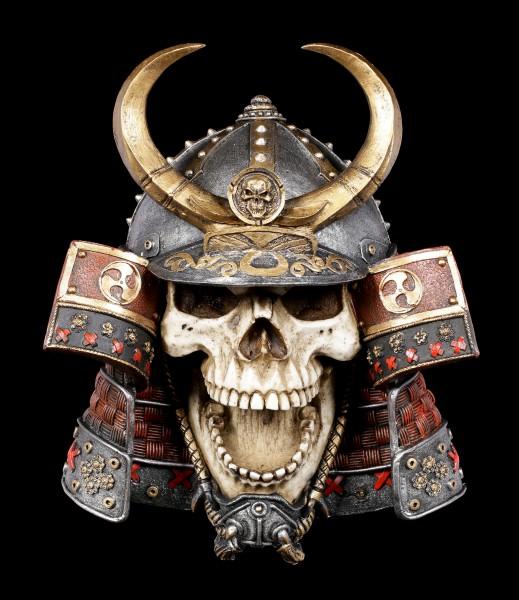 Totenkopf Wandrelief - Samurai Kabuto