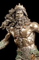 Poseidon Figur erhebt sich aus den Wellen