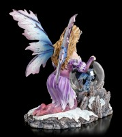 Fairy Figurine LED - Summona with Dragon in Glass Ball
