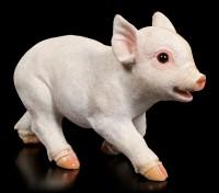 Gartenfigur Schwein - Ferkel rennt