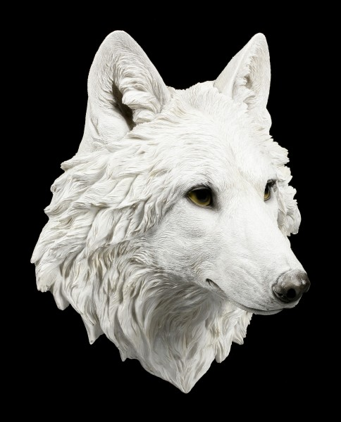 Wandrelief Wolf Kopf Snow Spirit