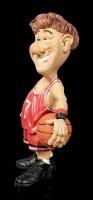 Funny Sports Figur - Basketballer im roten Trikot