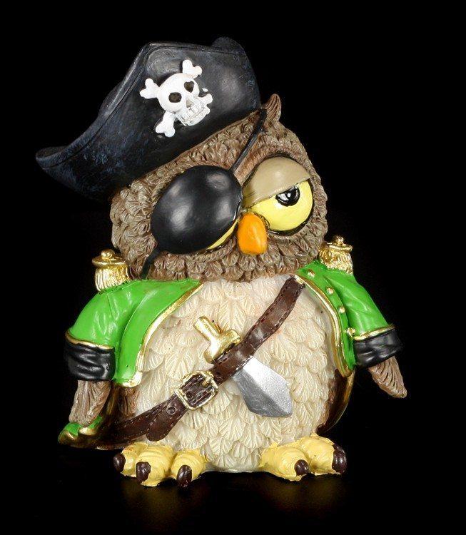 Pirate - Funny Owl Figurine