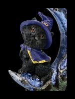 Hexen Katzenfigur - Sooky auf Halbmond