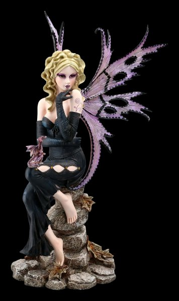 Large Fairy Figurine - Liliana with Dragon