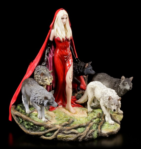 Schamanin Figur mit Wölfen - Howl