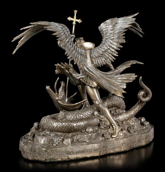 St. George Figurine with Dragon - Psalm 23 - bronzed