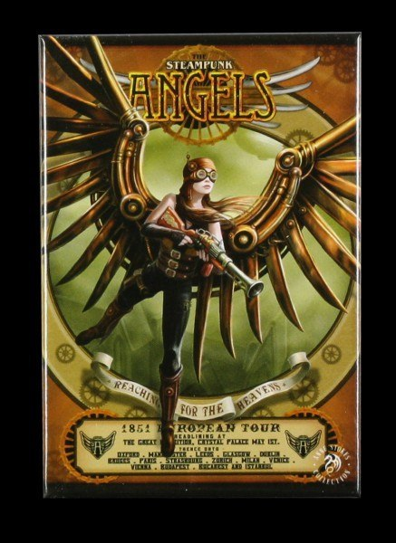 Steampunk Angel Magnet by Anne Stokes