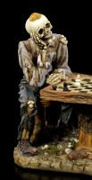 Chess Playing Skeleton Figurines - Waiting