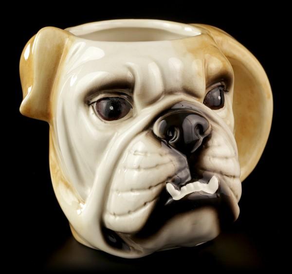 Keramik Tasse - Bulldogge