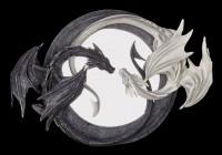 Wandspiegel - Yin und Yang Drachen