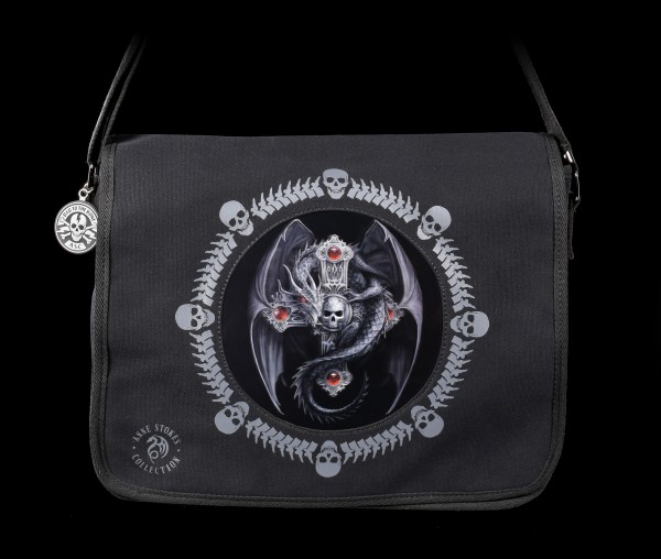 3D Messenger Bag with Dragon - Gothic Guardian