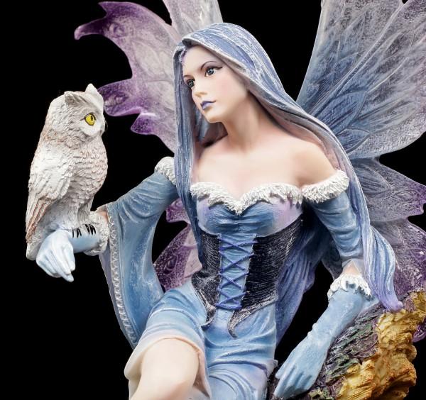 Fairy Figurine with Owl - Shakira on Tree Trunk